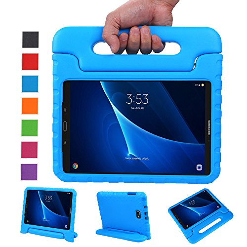 NEWSTYLE Samsung Galaxy Tab A 10.1 Kids Case (2016 NO S Pen Version) - Shockproof Light Weight Protection Handle Stand Case for Galaxy Tab A 10.1 Inch (SM-T580 / T585) Tablet 2016 Release (Blue)