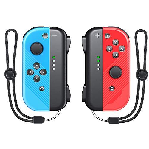 Joy Pad Controller Replacement für Switch / Switch Lite, Vivefox Wireless L / R Joy Pad mit Armband, Kabelgebundene / Kabellose Switch-Fernbedienungen - Rot / Blau