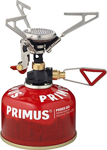 Primus Kocher Microntrail, Fornello a Gas con Accensione Elettrica e Regolatore Unisex, Argento, Taglia Unica