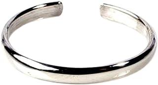 California Toe Rings Women's Sterling Silver 2Mm Plain Band Adjustable Toe Midi Ring Guard Ring
