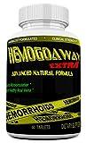 HEMOGOAWAY Extra Natural Hemorrhoid Treatment, Pain Relief Pills Natural Hemorrhoid Support (Extra Strength 1905Mg).