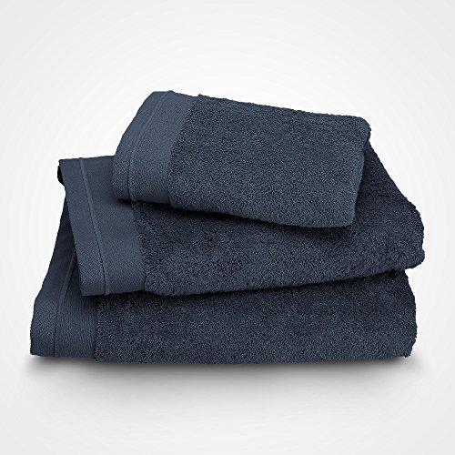BLANC CERISE Serviette de Toilette - Coton peigné 600 g/m² - Bleu Indigo 030x050 cm