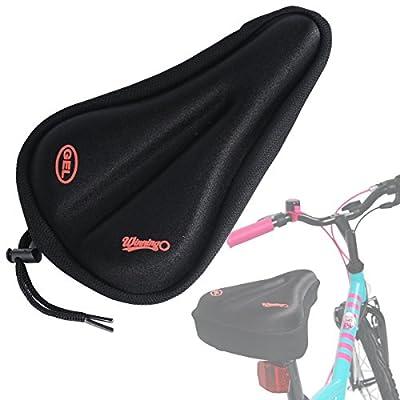WINNINGO Child Bike Gel Seat Cushion, Toddler Cycling Saddle Cover Comfortable Small Bicycle Saddle Pad