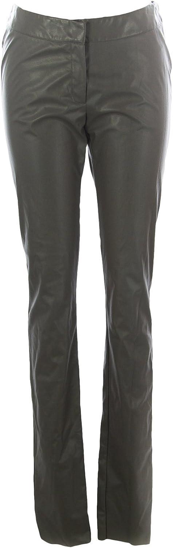 GOTHA Women's Imitation Leather Skinny Pants IT 2 Light Grey