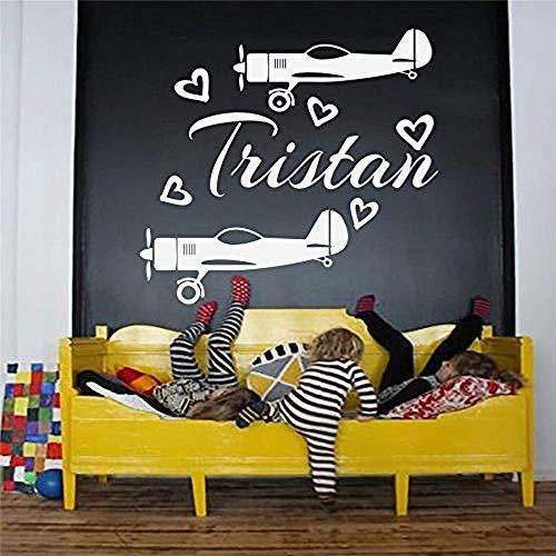 stickers muraux bebe juju et compagnie Stickers muraux nom personnalisé hélice de l'avion de décalcomanie pour chambre d'enfant chambre décor à la maison