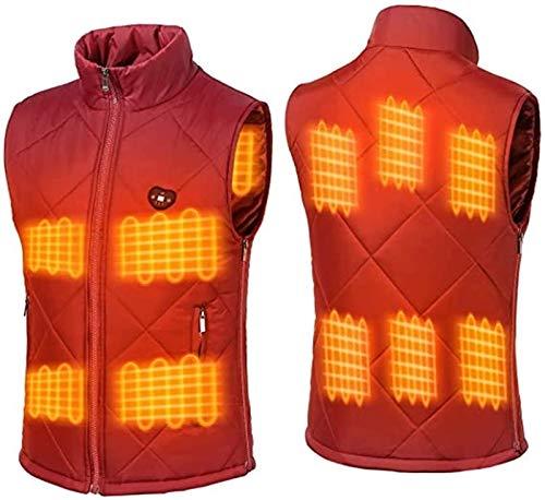 MNSSRN Chaleco con calefacción eléctrica, Impermeable, Resistente al Viento, con Carga USB, Chaleco de Tela con calefacción para Montar al Aire Libre, Esquiar, Pescar