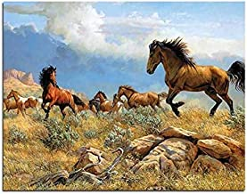 Great Plains Horse Landscape Painting By Numbers Running Horses Coloring By Numbers Sin Marco 40x50cm