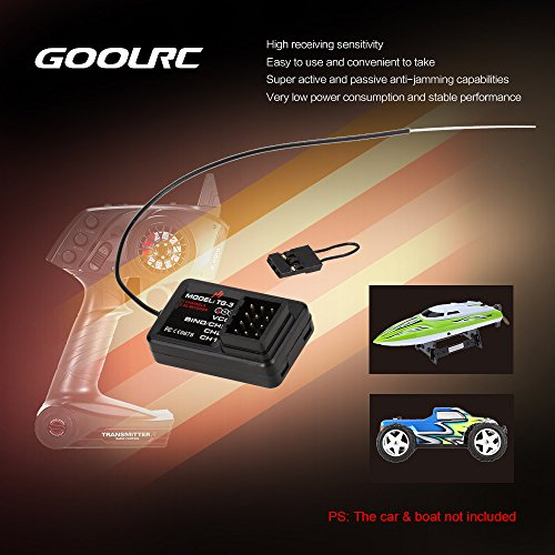 GoolRC TG-3 2.4G 3CH RC Auto-Boot-Empfänger für GoolRC TG3 AUSTAR AX5S Transmitter