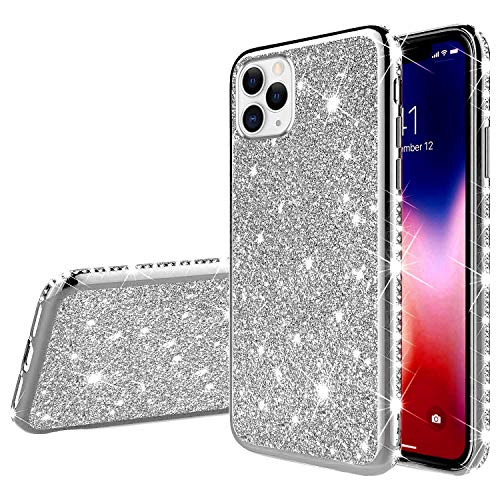 Great Features Of Herbests Compatible with iPhone 11 Pro Case for Girls Glitter Diamond Rhinestone L...