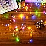 Led Lichterkette Batterie Strombetrieben, 1 Packung Batteriebetrieben 5m 50er Micro LED Kupferdraht...