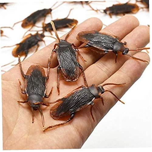 LAVALINK Gefälschte Kakerlaken Simulieren Insekt Schabe Prank Props Aprilscherzes Halloween-bevorzugungen Garten Bonsai Rasen Dekorationen