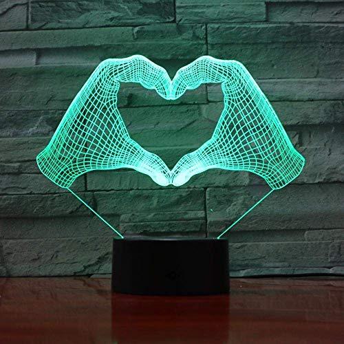 LBMTFFFFFF Lámpara de Luz Nocturna, Lámpara de Ilusión 3D, Luz de Noche Led, Instrumento Actual Moderno, Batería, Cambio de Color, Ambiente, Decoración de Habitación, Usb