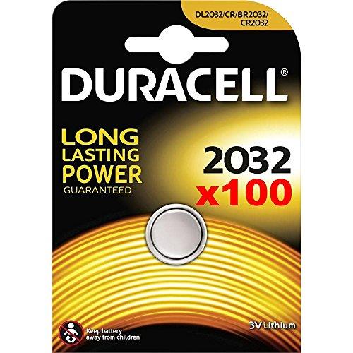 Duracell 2032 Box mit 100 x neu EFFIZIENT 3 V Lithium Batterie CR2032 DL2032 (neue Verpackung)