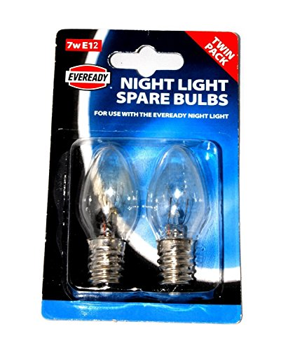 Ersatz-Birnen für Eveready Nachtlicht, E12 (12mm Gewindedurchmesser), 7W, 220-240V