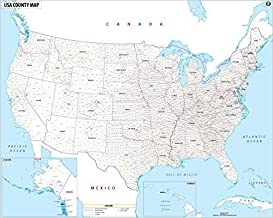 USA Map with County Names
