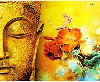 Golden Buddha Painting by Numbers DIY Wall Art Living Room Decoration Scenery Figure Animal Flower Cartoon