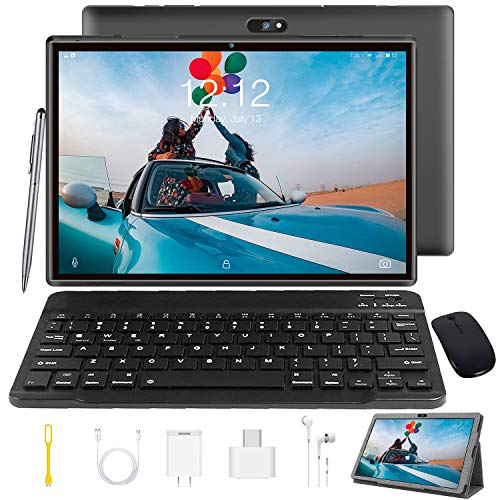 Tablet 10 Inch Tablet PC with Keyboard Android 9.0, Google GMS Certified, 3...