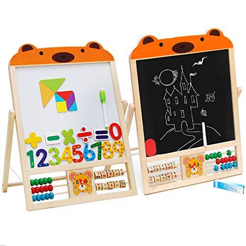 Nourrissons Jouets Interactifs Double Face Tableau Blanc Peinture Chevalet for Les Petits Enfants en Bas âge des opérations arithmétiques, Jeux numériques (Color : Orange, Size : Free Size)