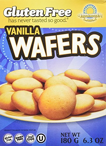 Kinnikinnick Gluten Free Vanilla Wafers -- 6.3 oz (Pack of 6)