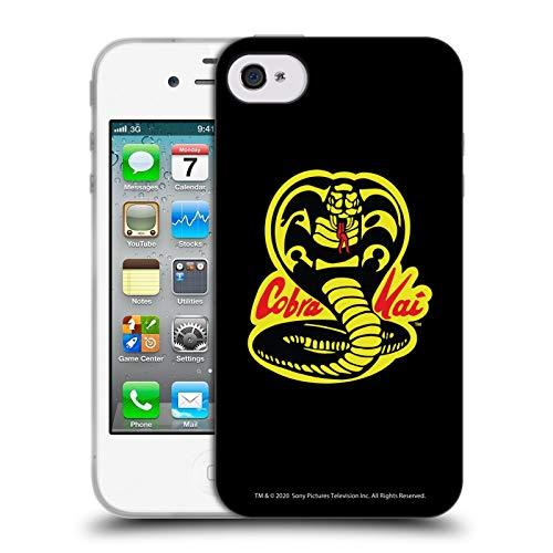 Head Case Designs Ufficiale Cobra Kai Logo Grafiche Cover in Morbido Gel Compatibile con Apple iPhone 4 / iPhone 4S