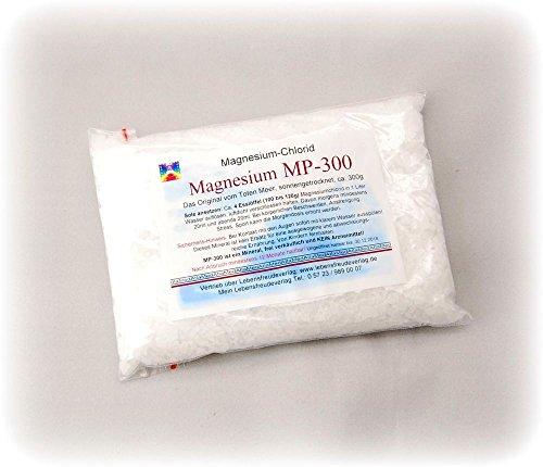 Magnesium-Chlorid Granulat im 300g Beutel - Nehmen Sie Magnesium in einer besonders reinen und vom Körper schnell verwertbaren Form ein: Als luftgetrocknetes Magnesiumchlorid vom Toten Meer! Nur das Beste für Ihren Körper!