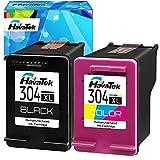 HavaTek Remanufacturados 304XL 304 Negro Tri-Color Cartuchos de Tinta para con HP Envy 5010 5020 5030 5032 5034 5050 5055 Deskjet 2630 2620 3720 3730 2622 3760 2632 AMP 100 130 Impresoras,Combo Pack
