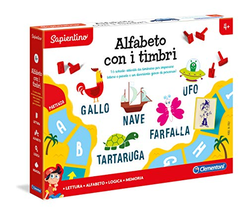 Clementoni Alfabeto con i Timbri Niño Niño/niña - Juegos educativos (370 mm, 281 mm, 50 mm, Caja)