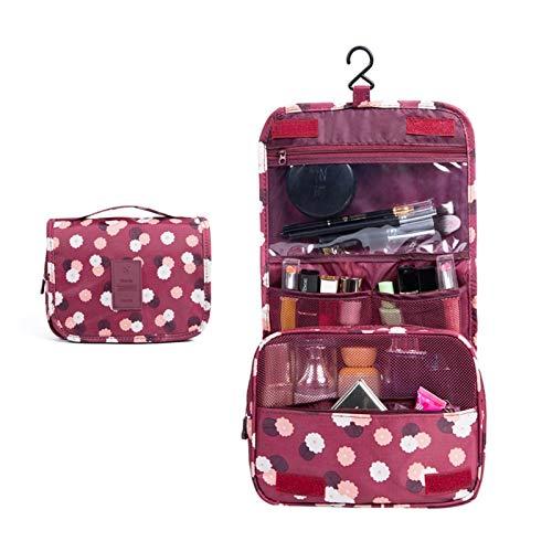 Youpin Women Makeup Bags travel cosmetic bag Toiletries Organizer Waterproof Storage Neceser Hanging Bathroom Wash Bag (Color : Color2)