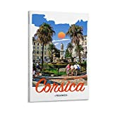 ASDWS Korsika Frankreich Leinwand-Kunst-Poster und