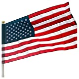 VSVO American Flag Pole Sleeve Banner Style 2.5x4 Ft - Heavy Duty Outdoor US USA Flags - Embroidered Stars, Sewn Stripes (Flag Pole is NOT Included)