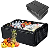 JEVAL 60 Cans Storage Box Cooler - Collapsible-Insulated-Lightweight-Portable - Great For Parties -...