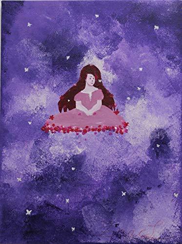 Gemälde ruhendes Mädchen von Isaac Loubar - 40 x 30 x 2 cm - Menschen auf Leinwand - Unikat, original, handgemalt, hochwertig