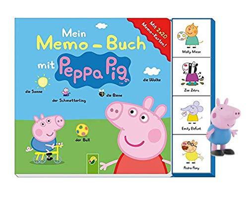 Buchspielbox Mi libro de notas con Peppa Pig: incluye 2 x 20 tarjetas de memoria + figura de Peppa Pig de Jazwares