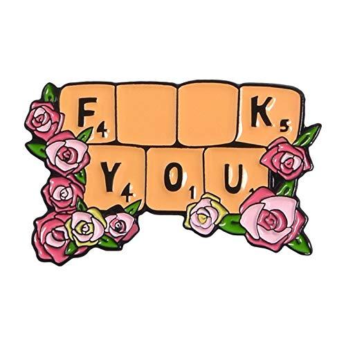 Tastatur Pink Love Emaille Pin umgeben von Blumen Buch Band Broschen Motte Tiere Tailor Frau Schmuck voller Mädchen Herz-Abzeichen (Größe : Keyboard)