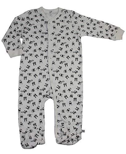 Pippi Baby Strampelanzug Schlafanzug (1420) Gr. 80 beige Maskenball