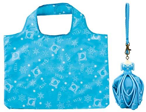 丸眞 ドレス型 エコバッグ ディズニー アナと雪の女王 エルサ ドレスライトブルー 2335022300 ドレス:h13×w9cm(ストラップ部分含めず)エコバッグ:h35.5×w47×d5cm(持ち手含めず)