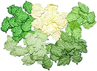 100 Leaves Daisy Mix Green Mulberry Paper Leaf Scrapbooking Craft Making Card DIY