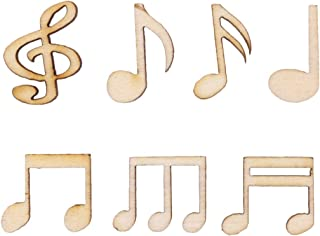 wooden music note ornaments