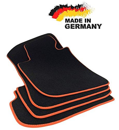 2001-2008 4-teile Gummimatten Fußmatten 1.5 cm Rand passt für BMW 7er e65 e66