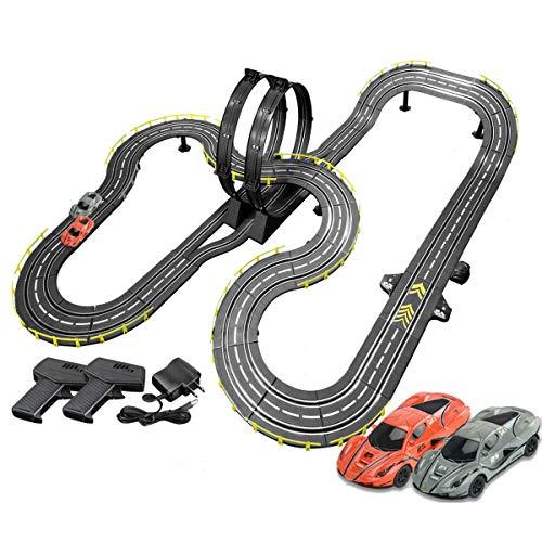 Pistas De Carreras 8m Set Racing Set Slot Cars Modelo Splicing Track R/C High Speed Control Remote Track Splicing Track Juguete Vehículos Playets para Boy and Girl Birthday Regalos