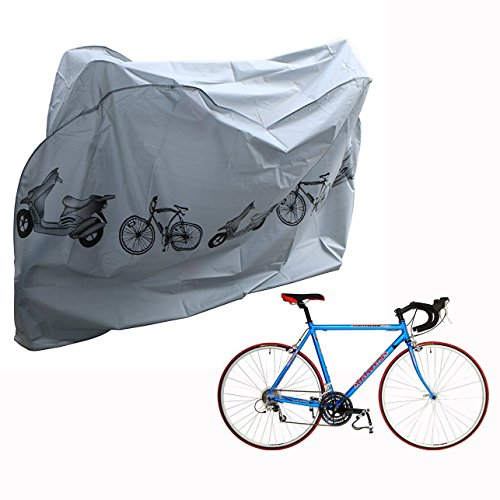 Cisixin Waterproof Snow Proof UV Protective Cycle Bike Bicycle Cover for Mountain Road Electric and Cruiser Bikes Grey