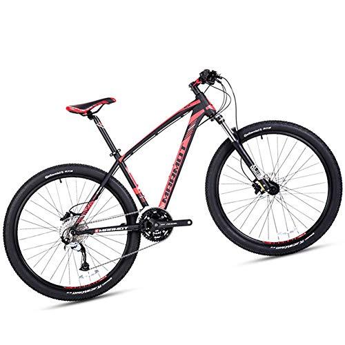 NENGGE 27.5 Pouces Vélo VTT pour Homme Femme, Adulte 27 Vitesses Vélo de Montagne à Gros Pneus avec Suspension Avant, Alliage D'aluminium Frein à Double Disque Cyclisme,Noir,15 inch