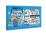 Stoves 1985 de Jean Michel Basquiat Cuadros Decoracion Dormitorios Salon Decoración Pared Lienzos Decorativos Cuadros Decoracion Salon Modernos (70x93cm28x37inch, enmarcado)