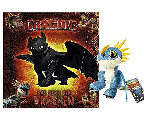 Panini Dragons: Das Buch der Drachen (Gebundenes Buch) + 1. drachenstarker Plüschdrache