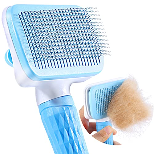 ACE2ACE Slicker Dog Comb Brush, Pet Grooming Brush, Daily Use to Clean...