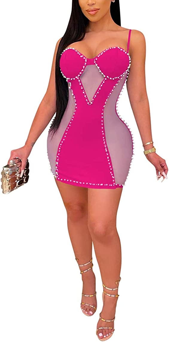 Women's Sexy Halter Sequin free Dress Deep Backless S Tucson Mall Spagetti V-Neck
