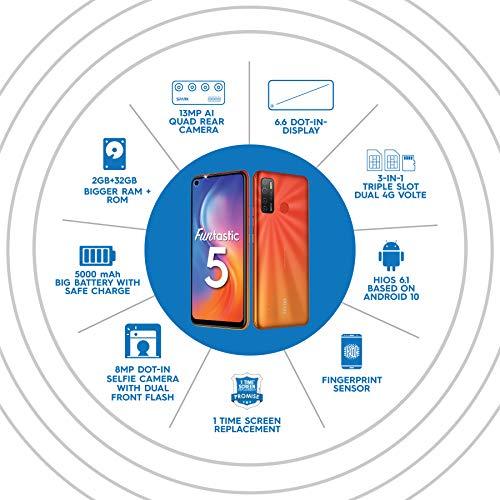 Tecno Spark 5 (Spark Orange, 2GB RAM, 32GB Storage)