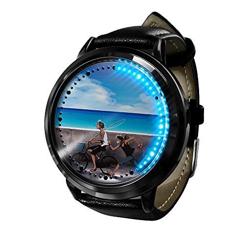 Reloj de Anime Reloj de una Pieza Pantalla táctil LED Impermeable Reloj de luz Digital Reloj de Pulsera Unisex Cosplay Regalo Nuevos Relojes de Pulsera niños-A4