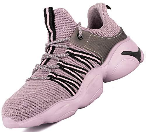 [EVIICC] 安全靴 作業靴 メンズ レディース スニーカー セーフティーシューズ ワークシューズ 鋼先芯 JIS H級 耐磨耗 衝撃吸収 耐滑 通気 軽量 2020新番