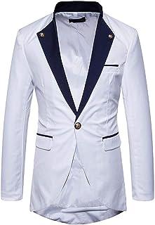 Men's Suit Fashion Slim Long Solid Fit Sleeve Suit Comfortable Sizes Lapel Blazer Men Coat for Business Wedding Party Busi...